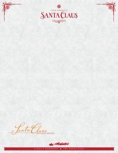 Santa claus letterhead will bring lots of joy to children sign up to receive your free from the desk of santa letter template spiritdancerdesigns Image collections
