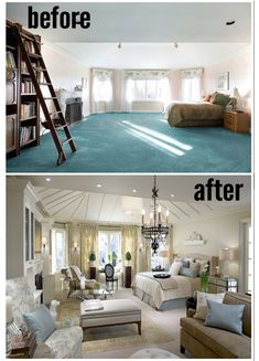 Amazing Master Bedrooms by Candice Olson: Before and Afters. Now that's how you do a large bedroom!