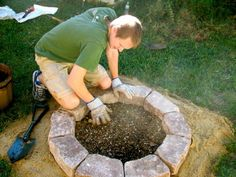 the SIMPLEST fire pit DIY ive seen. build it in a day and enjoy it that evening.