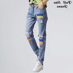 29.91$  Watch here - https://alitems.com/g/1e8d114494b01f4c715516525dc3e8/?i=5&ulp=https%3A%2F%2Fwww.aliexpress.com%2Fitem%2FHot-Sale-Boyfriend-Loose-Ripped-Hole-Jeans-Plus-Size-Harem-Pants-Denim-Pants-Pantalones-Vaqueros-Mujer%2F32468231813.html - Summer Plus Size Boyfriend Jeans for Women Retro Patchwork Loose Ripped Jeans Denim Harem Pants Baggy Jeans Femme 4XL 7XL 6XL XS 29.91$