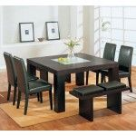 Global Furniture - 5 Piece Square Dining Room Set w/ Wenge Chairs - DG020DT-5Set  SPECIAL PRICE: $960.05