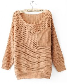 Round Neck Nude long sleeve pullover