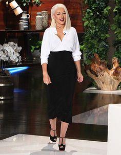 7886e2819b1d Christina Aguilera wearing Christian Louboutin Altapoppins T-Strap Platform  Pumps https   api