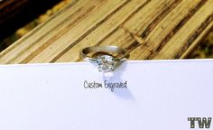 Personalized Engagement Ring Stainless Steel by TwistedEngraving