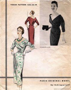 1950's Vtg Vogue Paris Original Model Dress by Schiaparelli Pattern 1256 14   eBay