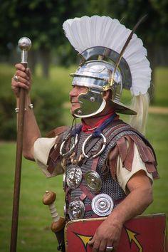 Roman Optio by steffcos on Ancient Rome, Ancient History, Roman Armor, Roman Centurion, Roman Warriors, Roman Legion, Greek Warrior, Roman Soldiers, Roman History