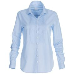 Shirt, pure cotton (330 BRL) ❤ liked on Polyvore featuring tops, blue top, blue cotton shirt, tailored fit shirts, woven cotton shirt and blue collar shirt
