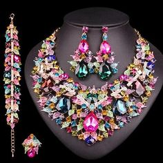 Wedding Jewelry Sets, Wedding Accessories, Jewelry Accessories, Costume Accessories, Indian Necklace, Leaf Necklace, Crystal Necklace, Cheap Jewelry, Jewelry Gifts