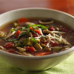 Slow Cooker Italian Chicken-Lentil Soup