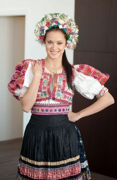 Abelova village in ,Novohrad region, neighbourhood of town of Lucenec in Central Slovakia. Folk Fashion, Ethnic Fashion, Vietnam Costume, Hungarian Girls, Costumes Around The World, Ethnic Dress, Folk Costume, World Cultures, Beautiful Patterns