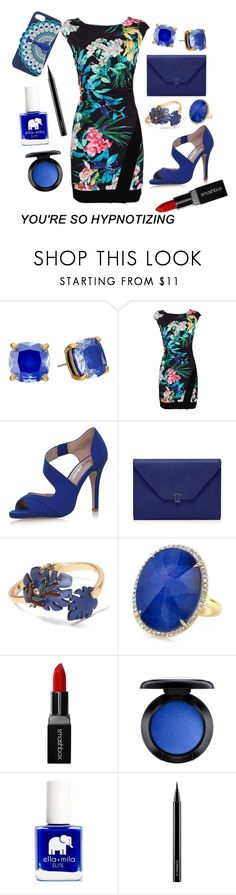 """You're so hypnotizing"" by grace-buerklin ❤ liked on Polyvore featuring Kate Spade, Miss KG, Banana Republic, Smashbox, MAC Cosmetics and Ella+Mila"
