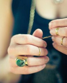 Emerald pretty. #etsyjewelry