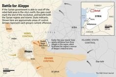 Syrian government forces have nearly encircled Aleppo; Rebels fear another siege http://on.wsj.com/1vJmxDC