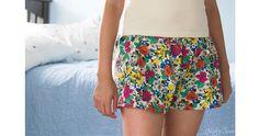 Free pattern: Womens pajama shorts