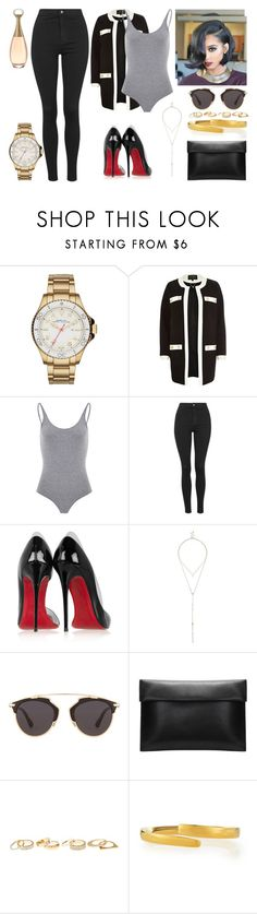 """""""Show the world you've got that fire, feel the rhythm getting louder, show the room what you can do, prove to them you've got the moves, I don't know about you but I feel better when I'm dancing. #534"""" by stay-strong-18 ❤ liked on Polyvore featuring Marc by Marc Jacobs, River Island, Topshop, Christian Louboutin, Christian Dior, Charlotte Russe, Maiyet, women's clothing, women and female"""