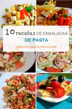 10 Recetas de Ensaladas de Pasta Pasta Salad, Italian Recipes, Potato Salad, Salads, Healthy Recipes, Ham Recipes, Food Porn, Spices, Pizza