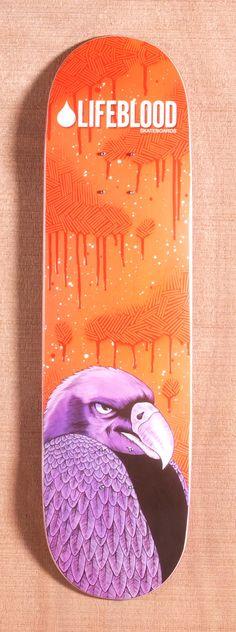 "Lifeblood Feathered Vulture 8.25"" Skateboard Deck"