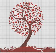 Thrilling Designing Your Own Cross Stitch Embroidery Patterns Ideas. Exhilarating Designing Your Own Cross Stitch Embroidery Patterns Ideas. Cross Stitch Tree, Cross Stitch Heart, Beaded Cross Stitch, Wedding Cross Stitch Patterns, Funny Cross Stitch Patterns, Diy Embroidery, Cross Stitch Embroidery, Embroidery Patterns, Cross Stitching