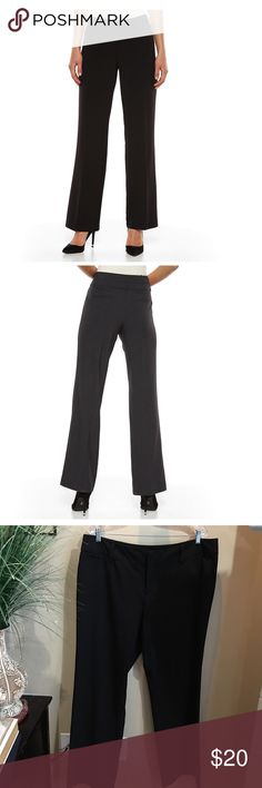 "AB studio straight leg black slacks Like new. Button and zipper closure. Flat mock pockets. Slight stretch. 32"" inseam. 38"" waist. Polyester/rayon/spandex AB Studio Pants Trousers"
