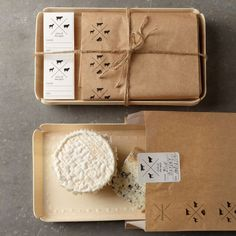 Williams Sonoma cheese trays, bags, and sticker set.