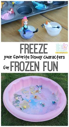 Disney frozen characters (how to make ice toys) - Brie Brie Blooms