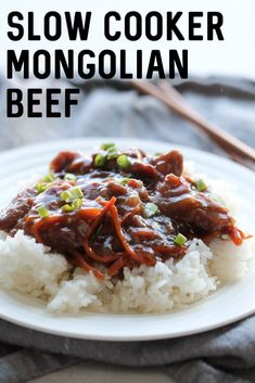 Slow Cooker Mongolian Beef Recipe | Six Sisters' Stuff
