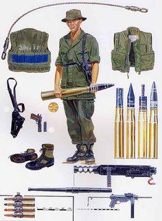 """Equipo básico de tripulante y equipo, República de Vietnam """""""