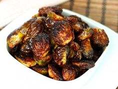 The best brussels sprouts you'll ever make! They're crispy, sweet, spicy, and savory all at once. Amazing!