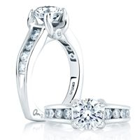 Check out our website  http://www.diamondconnectiononline.com/ #TheDiamondConnection will build your own customized ring to reflect your unique style & personality. #EngagementRing Brand: #AJaffe Ring Style: MES090