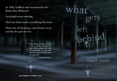 """The full wraparound of """"What Gets Left Behind"""", created by Neil Williams.  The chapbook, from Spectral Press, sold out before publication (which I was very happy about!)  see www.markwest.org.uk for more details Tidy Books, Local Girls, Wraparound, The Past, Writing, Happy, Wallet, Ser Feliz, Being A Writer"""