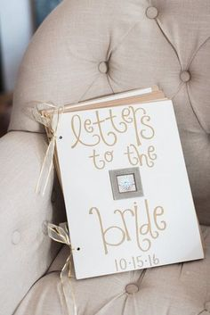 Book of letters to the bride on her wedding day #ScrapbookFAQs