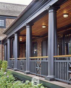 Watch Hill - Shope Reno Wharton Porch Railing Designs, Front Porch Railings, Front Porch Design, Balcony Railing, Deck Design, House Design, Railing Ideas, Shingle Style Architecture, Architecture Details