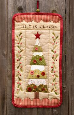 Image of 'Tis the Season - wall hanging pattern, new PDF  available 9-12-12