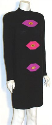 80s Steve Fabrikant Vintage Designer Dress