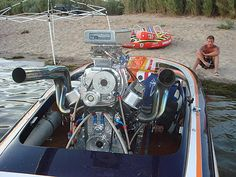 71 Nordic flat bottom with blown 468 chevy-1