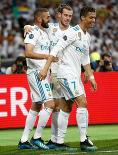 Gareth Bale, Karim Benzema & Cristiano Ronaldo during the final Cristiano Ronaldo Manchester, Cristiano Ronaldo 7, Real Madrid Team, Real Madrid Football, Miranda Bbc, The Paradise Bbc, Our Girl Bbc, Liverpool, Robin Hood Bbc