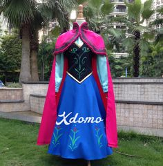 Frozen Anna Dress Adult Child Size Anna Costume Anna Cape by xdomo, $38.99
