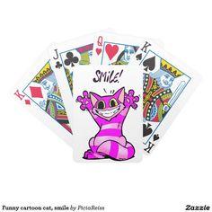 Funny cartoon cat, smile