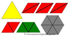 Constructive Triangles Small Hexagonal Box: 18 Triangles for the Small Hexagonal Box. Includes black & white outlines and Control Charts.