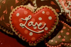 Exquisite Valentine's Cookies by All Things Exquisite on Etsy, $25.00 >> These are so pretty!