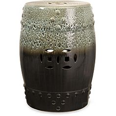 Handcrafted Ningbo Patio Oriental Garden Stool | Overstock.com Shopping - Big Discounts on Coffee & Side Tables