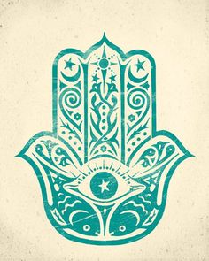 Hamsa hand is an amulet that helps banish evil or any negative energy. It brings happiness, luck and good fortune to its owner. Hamsa Hand Tattoo, Hamsa Art, Hamsa Design, Hamsa Tattoo Design, Marquesan Tattoos, Handprint Art, Hand Of Fatima, Hindu Art, Paisley