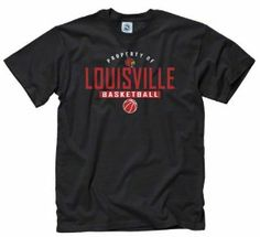 new style 899f6 4c5df Louisville Cardinals Black Property of Basketball T-Shirt by New Agenda.   14.99. 100