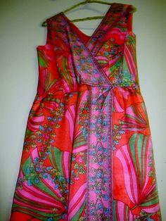 Vintage Maxi Dress Sleeveless  Boho Mod Hippie Size Medium 1970 https://www.etsy.com/listing/181954791/vintage-maxi-dress-sleeveless-boho-mod