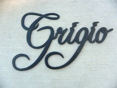 Grigio Wine Word Black Metal Wall Art Home Decor >>> You can get more details by clicking on the image.