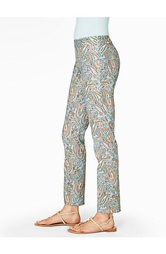 Talbots Chatham Ankle Pants - Ocean Paisley - Misses Petite ~~  I have a few of these pants up for sale on my eBay site;  victor-and-mia