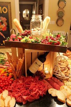 45 Ideas for party food display ideas buffet tables wine cheese Wine And Cheese Party, Wine Tasting Party, Wine Parties, Holiday Parties, Wine Cheese, Cheese Food, Cheese Table, Cheese Platters, Antipasto