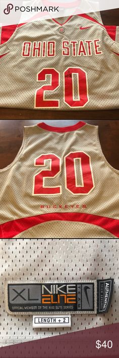 Authentic Nike Ohio State Basketball Jersey Grey Ohio State Basketball  Jersey (signed by Greg Oden 6af7a2997