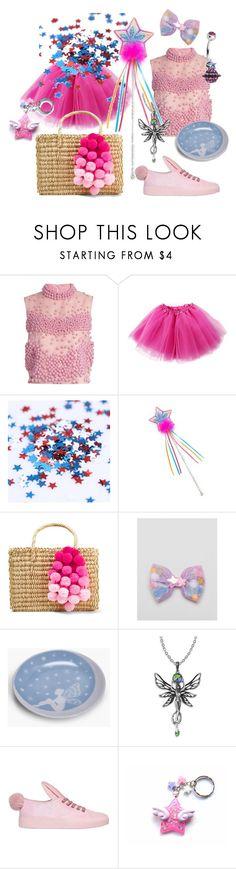 """""""Pink Pom Poms"""" by alexxa-b ❤ liked on Polyvore featuring Roksanda, Nannacay, ASOS, Boohoo, Minna Parikka, Pink, stars, fairy and pom"""