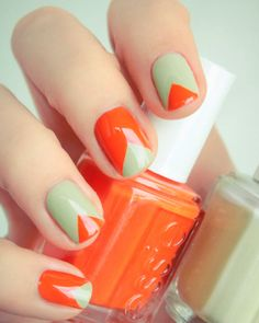 Tangerine Tango is the Pantone shade of the year, pairing it with seafoam green makes it even chicer!